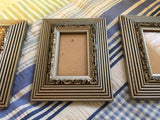 Picture Frames #1 Vintage Silver and Black SET OF 3