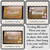 Blessed Wood Sign Wall Art Wall Hanging Positive Saying Handmade Hand Painted - JAMsCraftCloset