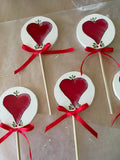 Ornament Lollipop Wooden Handmade Hand Painted Holiday Decor Tree Decor