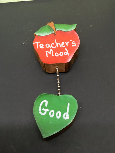 Magnet Wooden Teacher Mood Good or Bad Handmade Hand Painted Gift Appreciation Classroom Decor