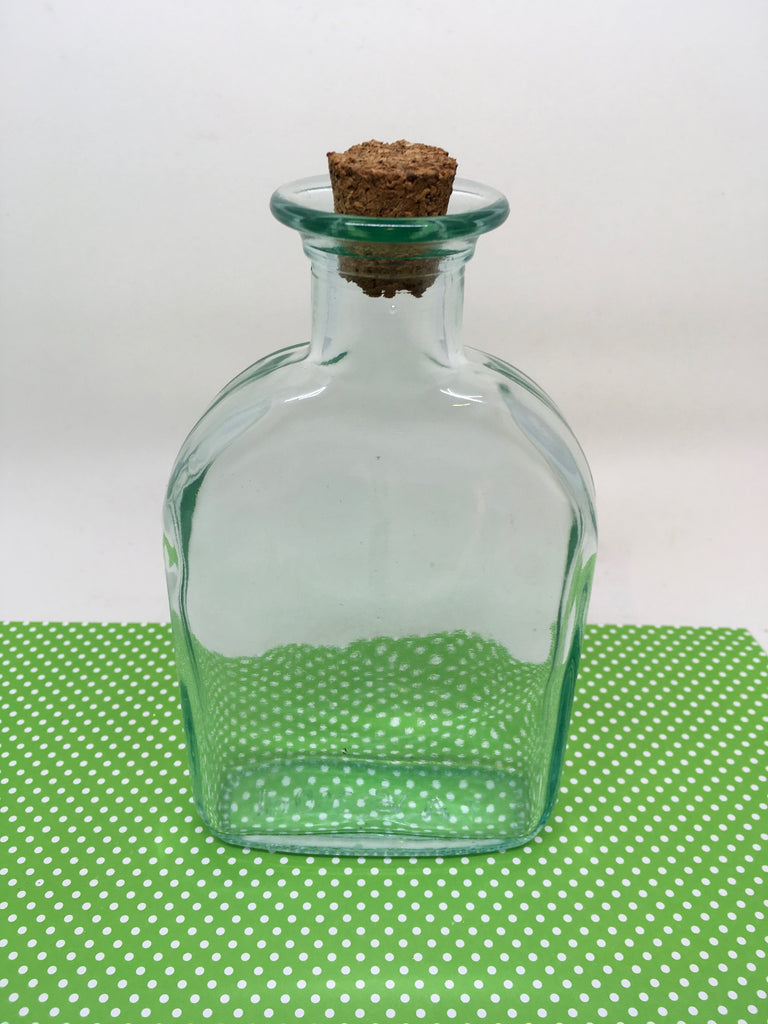 Bottle Bud Vase Green Glass Vintage With Markings 7 A VE 200 ml - JAMsCraftCloset