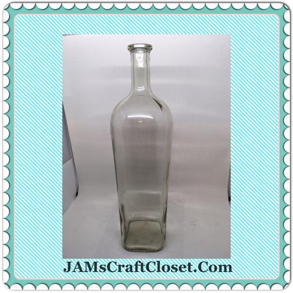 Bottle Vase Pale Green Glass With Markings on Bottom 32  3  9  50  GP - JAMsCraftCloset