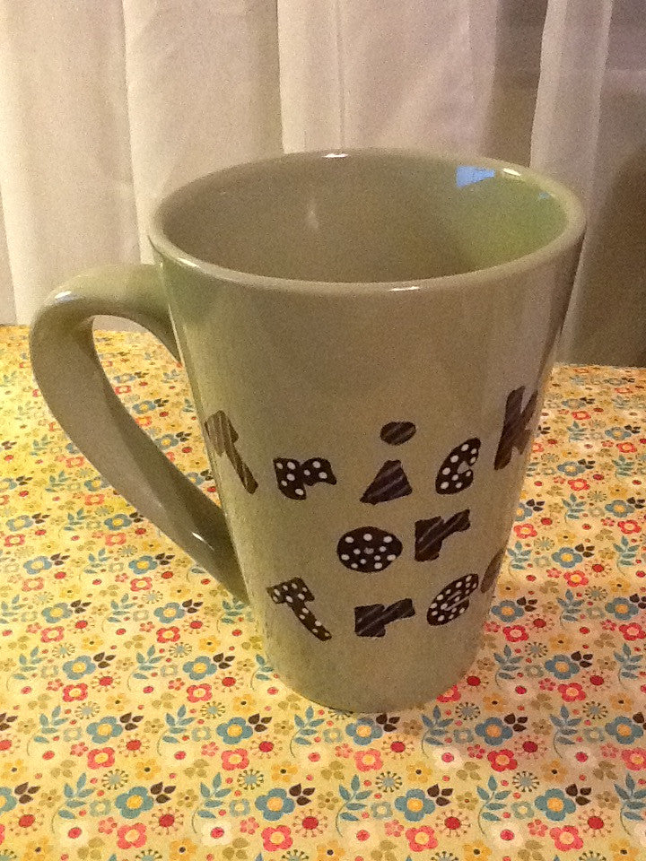 Mugs Cups Halloween  Trick or Treat Hand Painted - JAMsCraftCloset