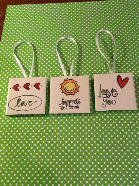 Ornaments Wall Hangings Hand Painted Positive Sayings  Special Gifts for Children and Teens 6 Colors to Choose From - JAMsCraftCloset