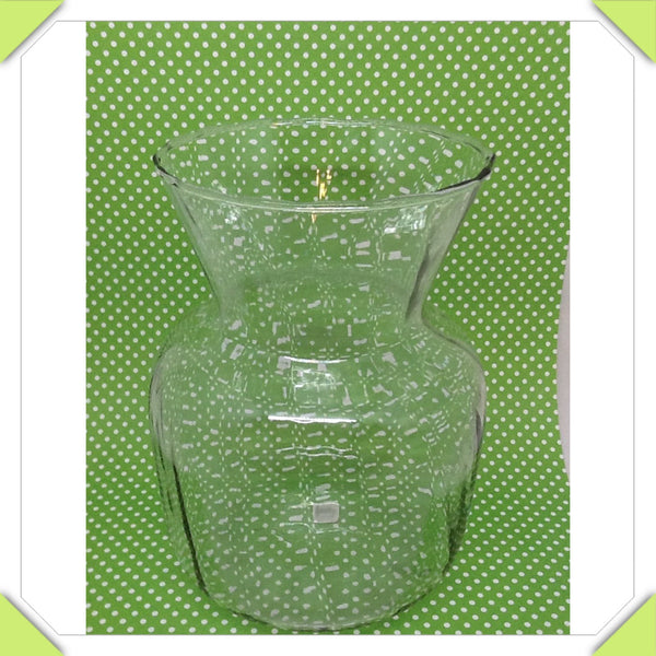Vase Small Clear Glass With Ripples JAMsCraftCloset