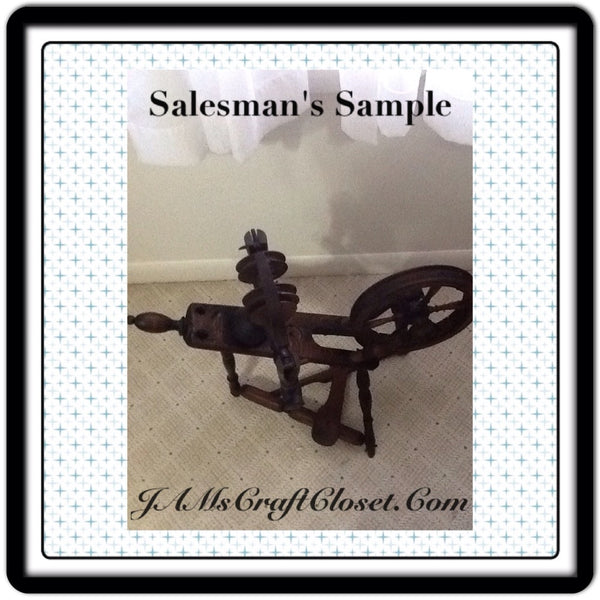 Salesman's Sample Antique Spinning Wheel in GREAT Condition and Ready for a New Home JAMsCraftCloset