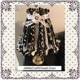 Rag Lampshade Square Black White and Gold Cottage Chic Lighting Home Decor