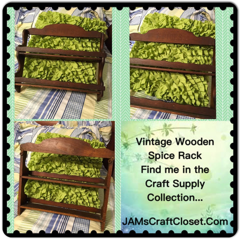Spice Rack Vintage Wooden 13 by 15 1/2 Inches DIY Project JAMsCraftCloset
