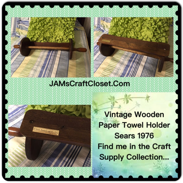 Paper Towel Holder Wooden SEARS 1976 DIY 20 by 6 Inches Ready to Add YOUR Personal Touch JAMsCraftCloset