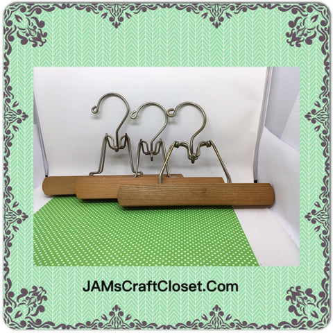 1 Hangers Vintage Pants Set of 3 Wooden DIY Project - JAMsCraftCloset