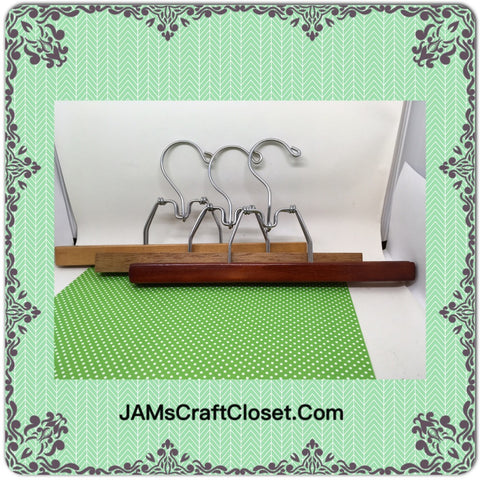 2 Hangers Vintage Pants Set of 3 Wooden DIY Project - JAMsCraftCloset