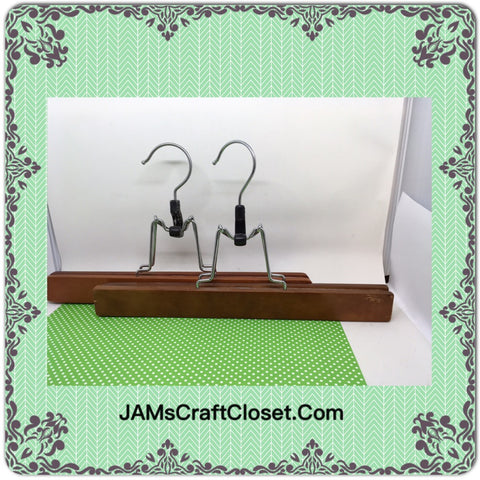 4 Hangers Vintage Pants Set of 2 Wooden DIY Project - JAMsCraftCloset