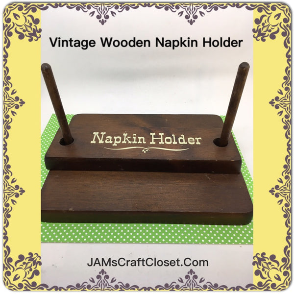 Napkin Holder Vintage Wooden Great for the Picnic Table or Patio Table Perfect for Primitive Cottage Chic Victorian or Country Decor