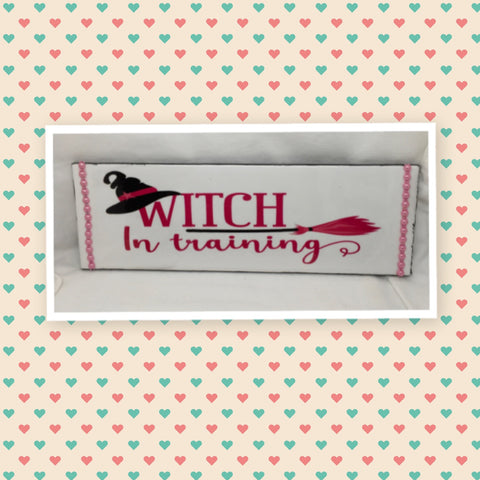 WITCH IN TRAINING Wall Art Ceramic Tile Sign Gift Home Holiday Halloween Decor  Handmade Sign Country Farmhouse Gift Campers RV Gift Home and Living Wall Hanging - JAMsCraftCloset