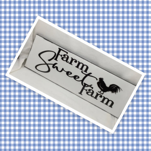 FARM SWEET FARM Ceramic Tile Sign Wall Art Wedding Gift Idea Home Country Farmhouse Home Decor Affirmation Wedding Decor Positive Saying - JAMsCraftCloset