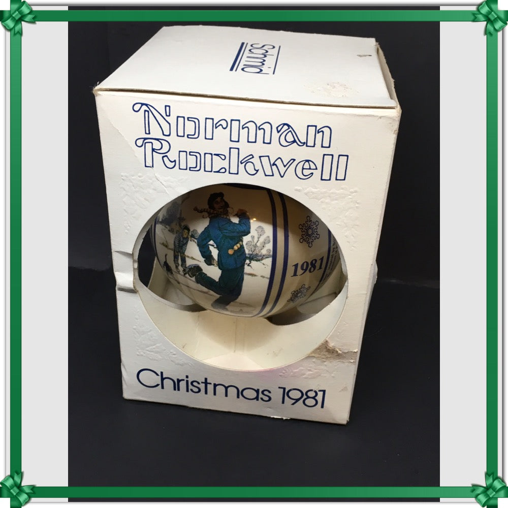 Ornament Norman Rockwell Gay Blades Holiday Decor Vintage c. 1981