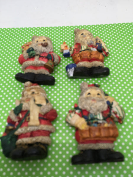 Santa Claus Made of Resin Magnets Vintage Christmas Holiday Decoration Kitchen Decor SET OF 4 JAMsCraftCloset