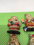 Santa Claus Made of Resin Magnets Vintage Christmas Holiday Decoration Kitchen Decor SET OF 4