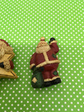 Santa Claus With Star and Bag Magnets Vintage Christmas Holiday Decoration Kitchen Decor SET OF 2