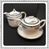 Vintage Sheridan China Noritake Made in Japan Sugar Bowl Creamer Set c. 1920s