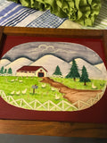 Chalkboard Vintage Handpainted Country Scene Wall Art Home Decor - JAMsCraftCloset