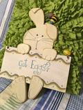Bunny Rabbit GOT EGGS Wall Art Easter Decoration Home and Country Decor - JAMsCraftCloset