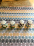 Thimbles #5 Vintage Country Scene SET of 4