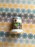 Thimbles #13 Vintage Country Scenes With Horses SET of 3