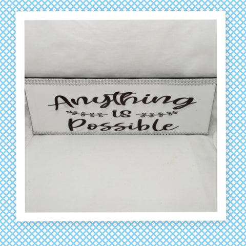ANYTHING IS POSSIBLE Ceramic Tile Decal Sign Wall Art Wedding Gift Idea Home Country Decor Affirmation Wedding Decor Positive Saying - JAMsCraftCloset
