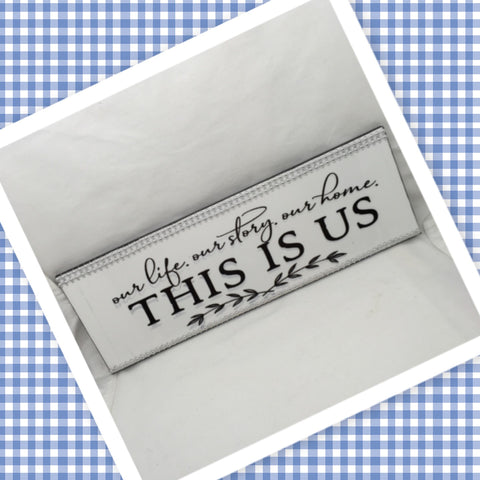 THIS IS US Ceramic Tile Decal Sign Wall Art Wedding Gift Idea Home Country Decor Affirmation Wedding Decor Positive Saying - JAMsCraftCloset
