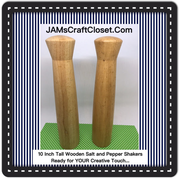 Salt and Pepper Shakers TALL Wooden DIY Waiting for YOUR Creativity JAMsCraftCloset