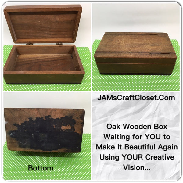 Box Wooden Vintage DIY With Your Paint Choice Country Decor Farmhouse Decor Cottage Chic Decor - JAMsCraftCloset
