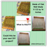Oak Rack Handmade DIY Wooden Ready to Add YOUR Personal Touch