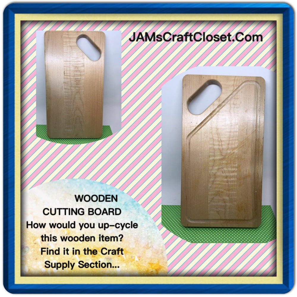 Cutting Board DIY Unfinished Wooden 12 by 6 1/2 Inches Ready to Add YOUR Personal Touch - JAMsCraftCloset