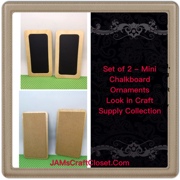 Chalkboard  DIY Unfinished Wooden Framed Ready to Add YOUR Personal Touch SET of 2 - JAMsCraftCloset