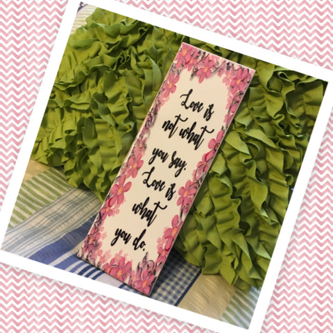 LOVE IS WHAT YOU DO Ceramic Tile Sign Wall Art Wedding Gift Idea Home Country Decor Affirmation Wedding Decor Positive Saying Valentine's Day Gift - JAMsCraftCloset