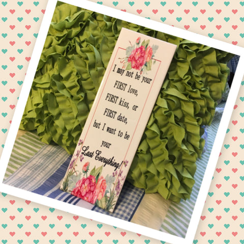 I WANT TO BE YOUR EVERYTHING Ceramic Tile Sign Wall Art Wedding Gift Idea Home Country Decor Affirmation Wedding Decor Positive Saying Valentine's Day Gift - JAMsCraftCloset