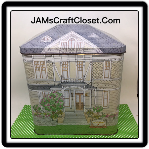 Tin Vintage Sutter House Winery 9 Inches Tall 7 Inches in Length 4 1/2 Wide Gift Tin JAMsCraftCloset