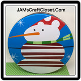 Tin Vintage Snowman 8 Inches in diameter 3 Inches Tall Gift Tin