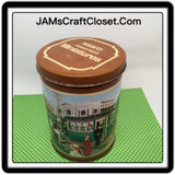 Tin Vintage Hersheys Assorted Miniatures 4 Inches in Diameter 6 Inches Tall Gift Tin 1992