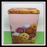 Tin Vintage Pink Cookie FTD Rectangle 6 1/4 by 4 1/4  by 3 Inches Gift Tin
