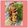 Santa Vintage With Angel Very Detailed With Flowers Basket 15 Inches Tall 8 Inches Wide JAMsCraftCloset