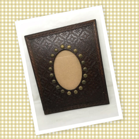 Picture Frames Vintage Black Rust Gold Wall Art or Shelf Sitter Oval Opening SET OF 3