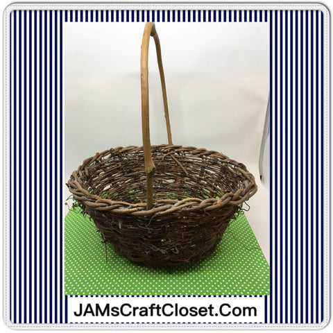 Basket Flower Girl Rustic Woven Basket Natural Handmade Wedding Accessory Table Decor - JAMsCraftCloset