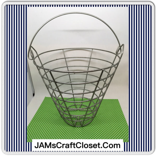 Basket Wire Vintage Round Silver Kitchen Decor Home Decor Gift Idea - JAMsCraftCloset