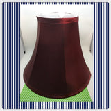 Lampshade Vintage Red Burgundy and Tan Cottage Chic Lighting Home Decor