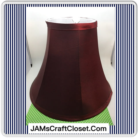 Lampshade Vintage Red, Burgundy, Gold and Tan Cottage Chic Lighting Home Decor