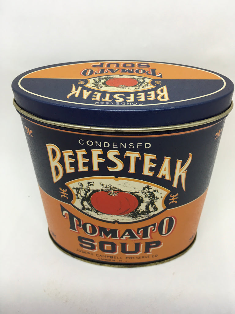 Tin Vintage Beefsteak Tomato Soup Advertising Tin Collector c. 1995