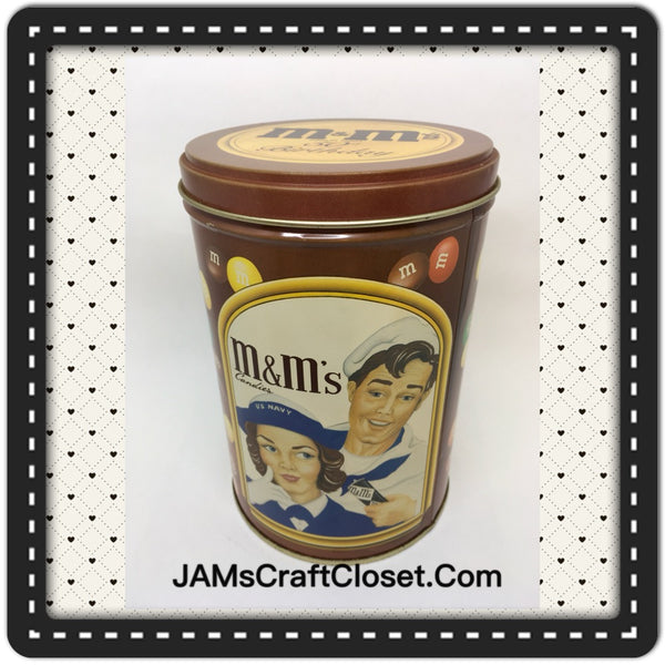 Tin Vintage M and Ms 50th Birthday Advertising Tin Collector c. 1990 JAMsCraftCloset