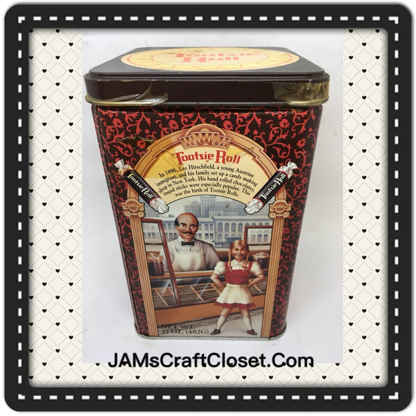 Tin Vintage Tootsie Roll Advertising Tin Collector c. 1992 Highly Collectible JAMsCraftCloset